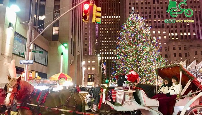 nyc christmas lights carriage ride prev next - Christmas Lights Nyc